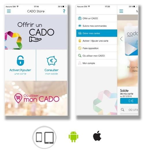 Realisation De L Application Mobile Cado Carte Cado Store Asi